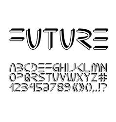Futuristic minimalistic alphabet vector
