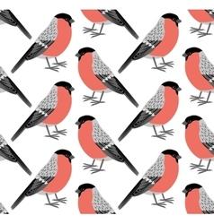 pattern of bullfinch vector image