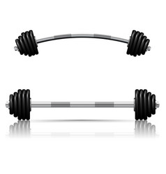 weights against white background vector image