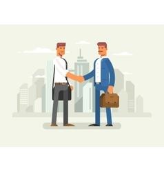 Business partners flat design vector image