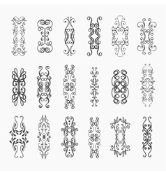 Calligraphic design elements and page vector