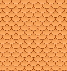 seamless roof tiles vector image vector image