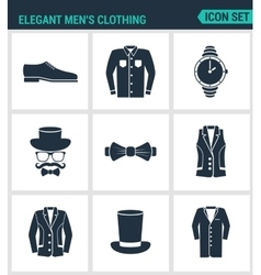 Set of modern icons Elegant men s clothing vector image vector image