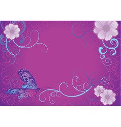 violet butterfly vector image vector image