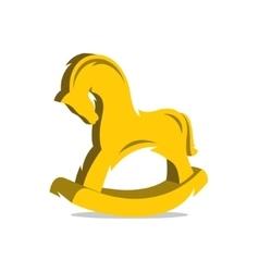 Wooden Horse Cartoon vector image