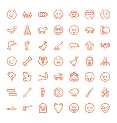 49 cartoon icons vector