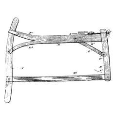 Abrasive saw blade vintage vector