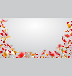 abstract background confetti and serpentine vector image