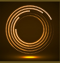 Abstract neon dotted circles glowing dots vector