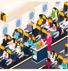 airplane passengers composition vector image