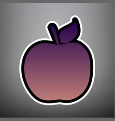 apple sign violet gradient vector image