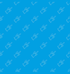 bell pattern seamless blue vector image