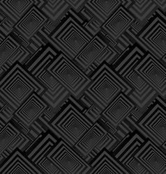 Black seamless rectangle pattern background vector