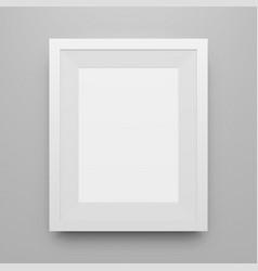 blank white poster frame mockup vector image