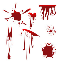 blood splashes design vector image