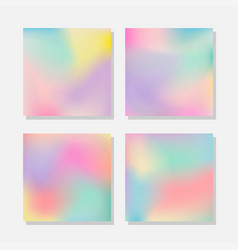 blurred abstract pastel color backgrounds vector image