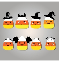 Candy Corn Clip Art Set vector image