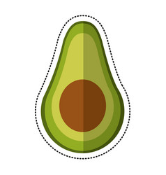 Cartoon avocado harvest nutrition icon vector