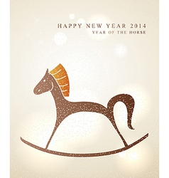 Chinese New Year of the Horse card vector