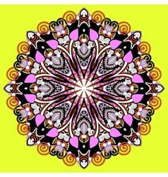 Circle lace ornament vector