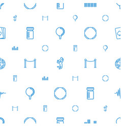 Club icons pattern seamless white background vector