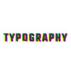Color vintage typography emblem vector