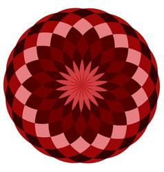 colorful geometric mandala vector image
