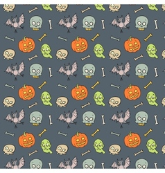 Colorful textile halloween pattern vector