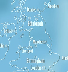 Creative Great Britain map and Ireland vector