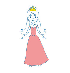 cute fantasy princess character vector image