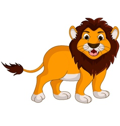 Cute lion cartoon smiling vector
