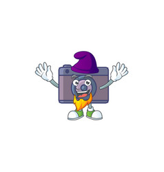 Cute retro camera mascot icon performed as an elf vector