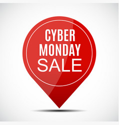cyber monday sale deals design template vector image
