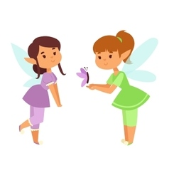 Fairies cartoon character vector image