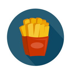 Flat style french fries icon vector