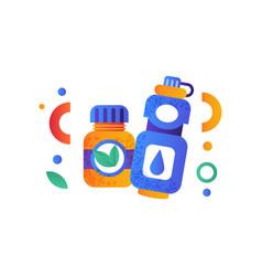 food supplement nutrition bottle water bottle vector image
