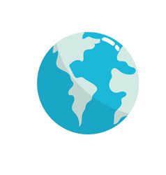 Global earth planet to geography ubication vector
