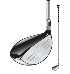 Golf club on white background vector