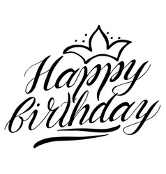 greeting happy birthday card lettering vector image