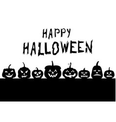 Halloween funny horror pumpkin greeting banner vector