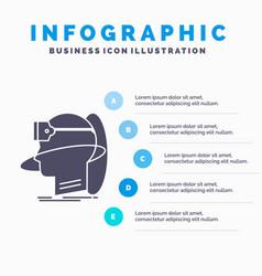 human man reality user virtual vr infographics vector image