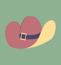 Icon in flat design fashion clothes cowboy hat vector