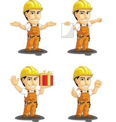 Industrial Construction Worker Mascot 11 vector image