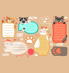 Kids timetable notepad sheets vector