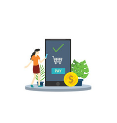 mobile payment business app technology with vector image