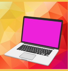 Modern thin laptop isolated on white modern vector