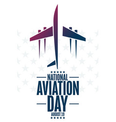 National aviation day august 19 holiday concept vector