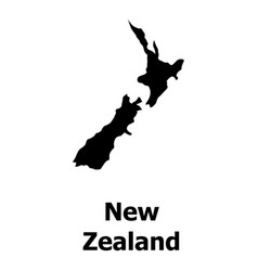 New zealand map icon simple style vector