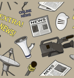 News set pattern vector