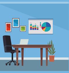 office interior scenery vector image